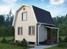 Дачный дом 003ДД 5х4