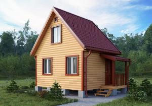 Дачный дом 001ДД 5х4