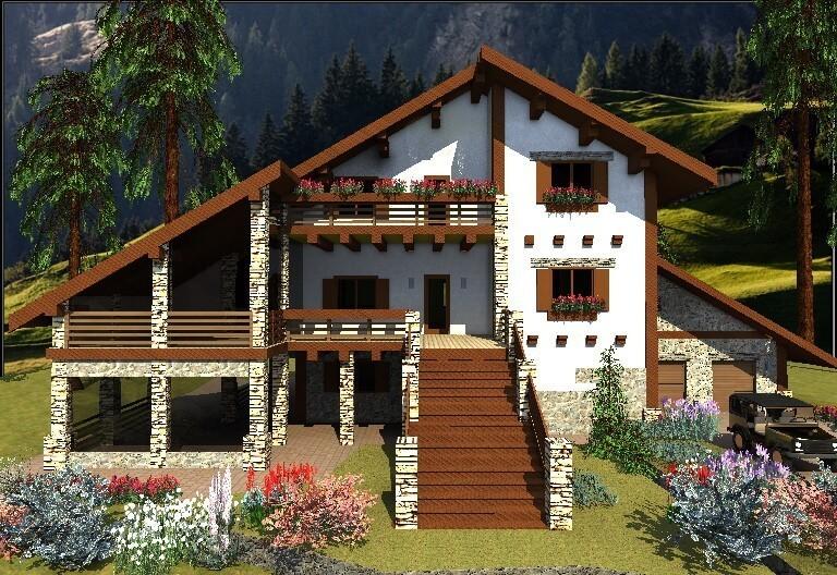 Модный альпийский дом