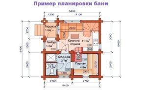 проект бани 025 б